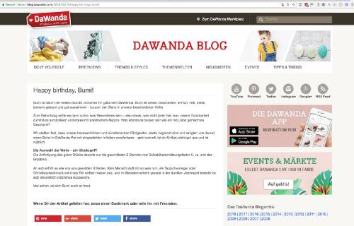 Dawanda Blogpost